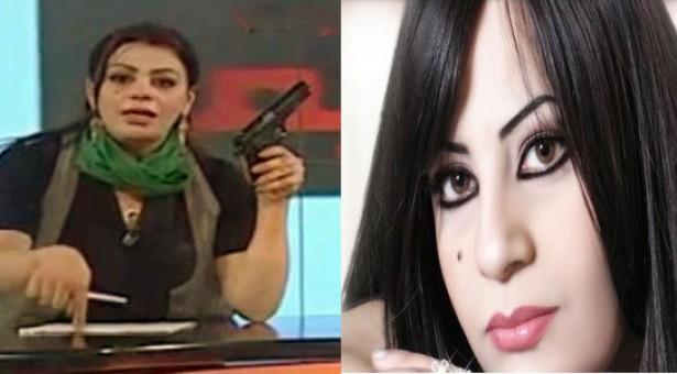 هالة المصراتي تشهر مسدسها