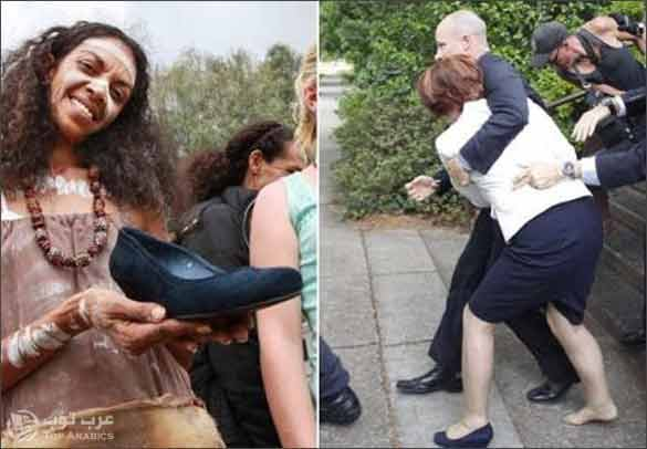 فردة حذاء رئيسة وزراء أستراليا جوليا جالارد تعرض للبيع على الانترنت