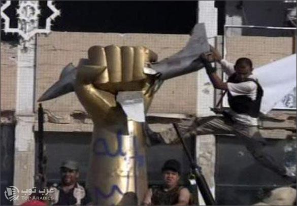 صور السيطرة على مجمع باب العزيزية