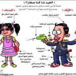 كاريكاتير اسامه حجاج - العيد لما كنا صغار