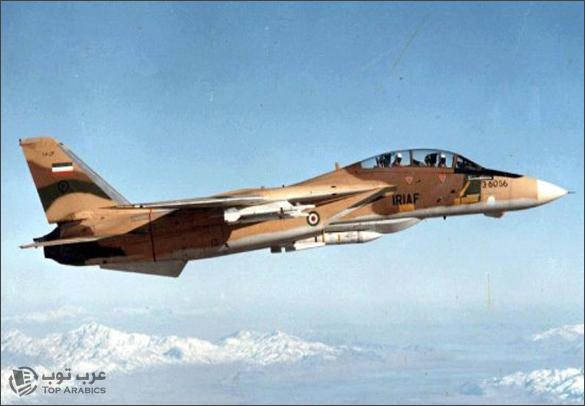 تحطم طائرة عسكرية ايرانية من طراز f-14