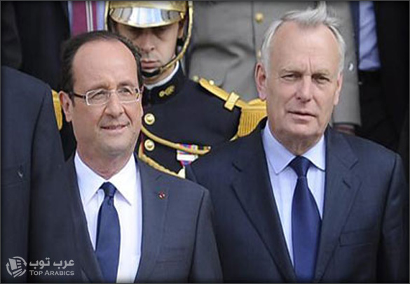 رئيس فرنسا الجديد فرانسوا هولاند ورئيس حكومته جون مارك