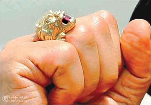 صورة خاتم القذافي