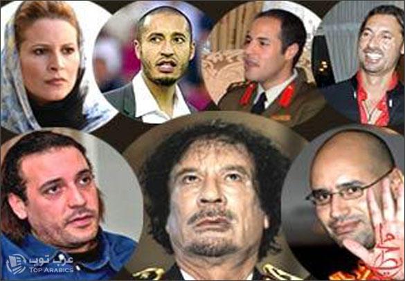 محاصرة القذافي وابنائه