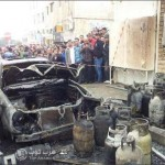 صور انفجاز اسطوانات الغاز في عمان - المدينة الرياضية