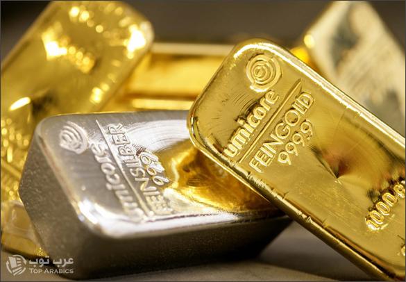 انخفاض اسعار الذهب والفضة