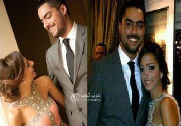 صور حسن الشافعي وخطيبته زينة نطوط