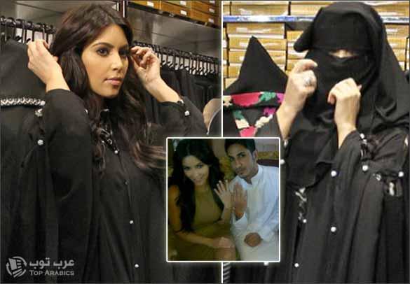 صور كيم كارداشيان في دبي وهي تجرب و ترتدي العباية و النقاب و صورة اخرى لكيم كارداشيان مع احد المعجبين في دبي.