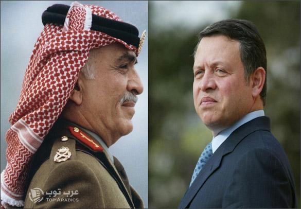 الملك عبدالله الثاني والملك حسين
