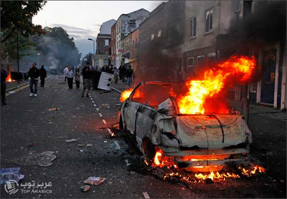 صور اعمال شغب بريطانيا 2011