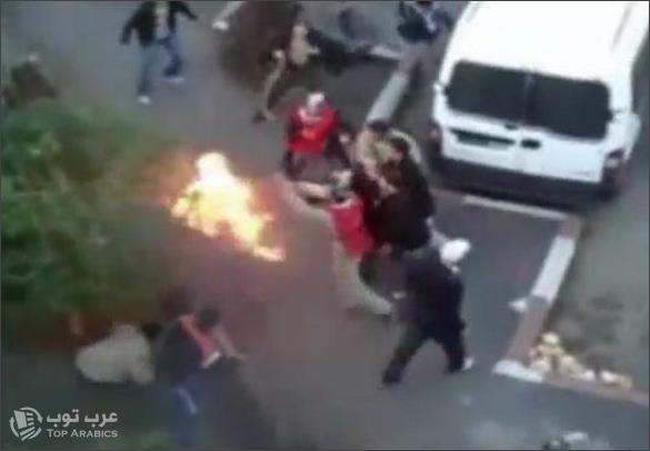 صور 5 شباب يحرقون انفسهم احتجاجا على البطالة