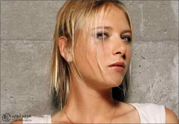 صورة لاعبة التنس المشهورة الروسية المعروفة بتأوهاتها وصرخاتها العالية البطلة ماريا شارابوفا