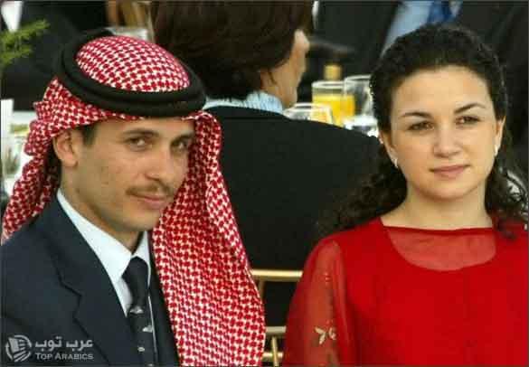 صورة صور الأمير حمزة بن الحسين مع زوجته الأولى - الزوجة السابقة لولي عهد الأردن الأسبق الأمير حمزة بن الحسين الاميرة نور بنت عاصم - .