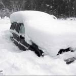 صورة حقيقية لسيارة الرجل السويدي الذي نجا من الموت بعد ان حبس تحت الثلوح في سيارته لمدة شهرين كاملين !