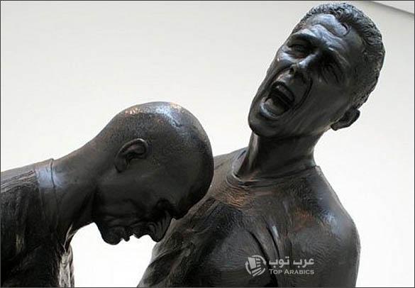 تمثال نطحة زيدان الشهيرة لماتيراتزي